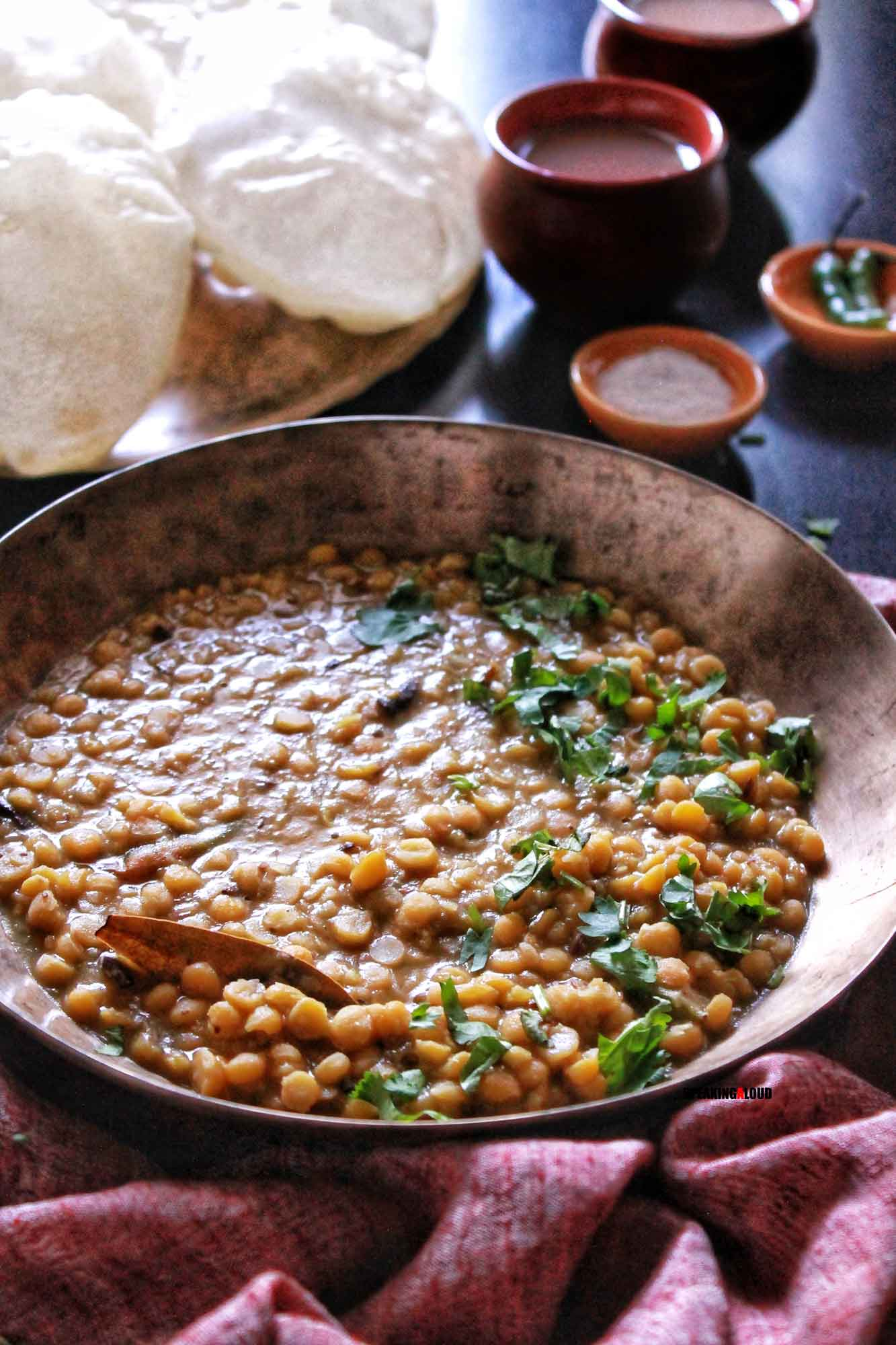 Cholar Dal recipe in Bengali Style