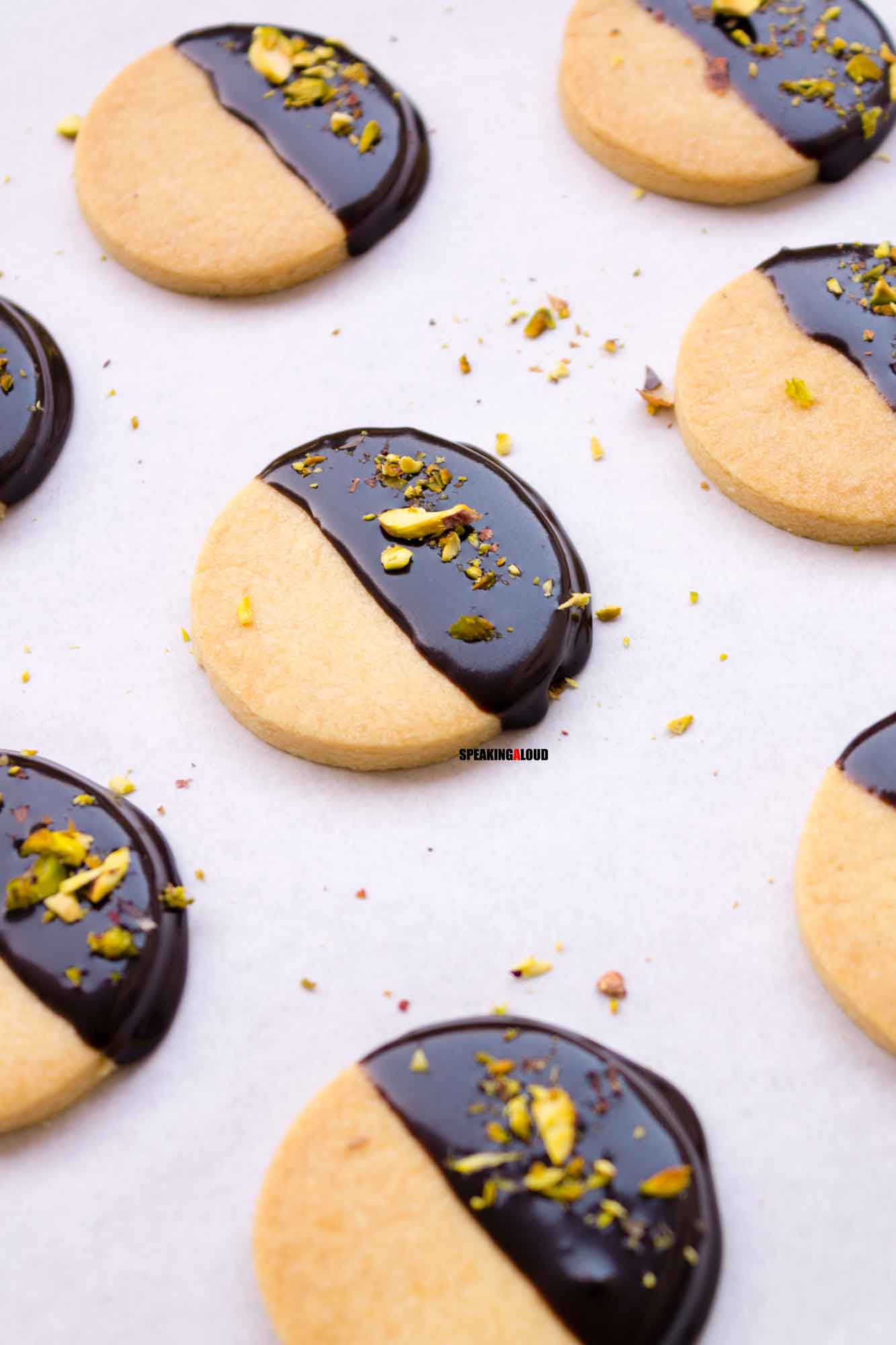 Chocolate dipped Shortbread Cookies